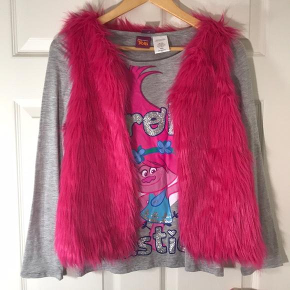46449af4 Dreamworks Shirts & Tops | Nwot Trolls Vest And Long Sleeve Combo ...